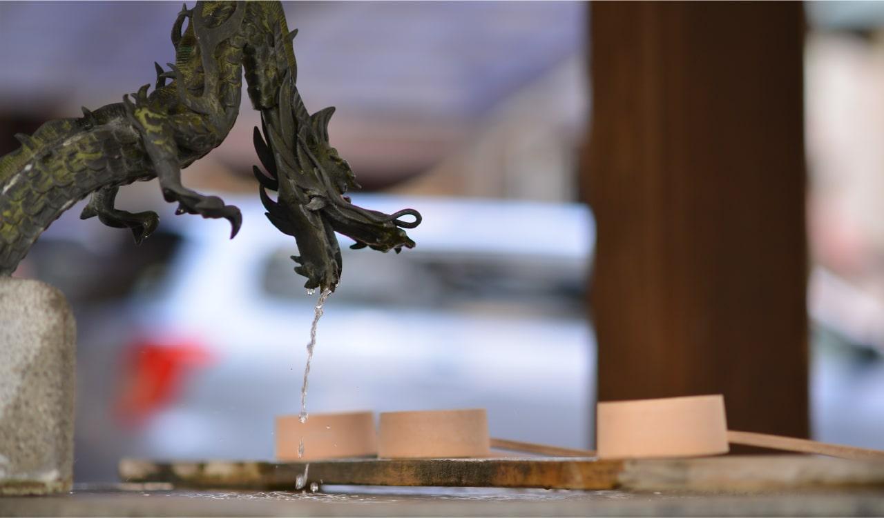 三吉神社の手水舎